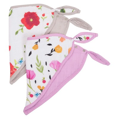 Little Unicorn Summer Poppy Bib Set - 2pc