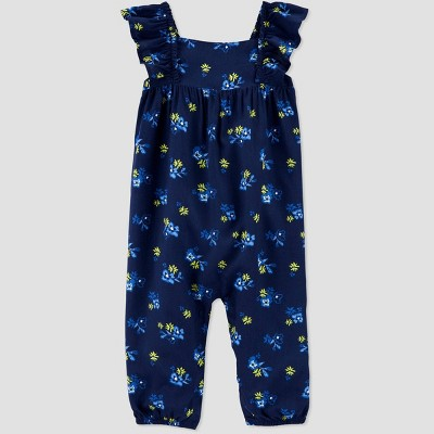 Baby Girls' Floral Jumpsuit - Just One You® made by carter's Navy 3M