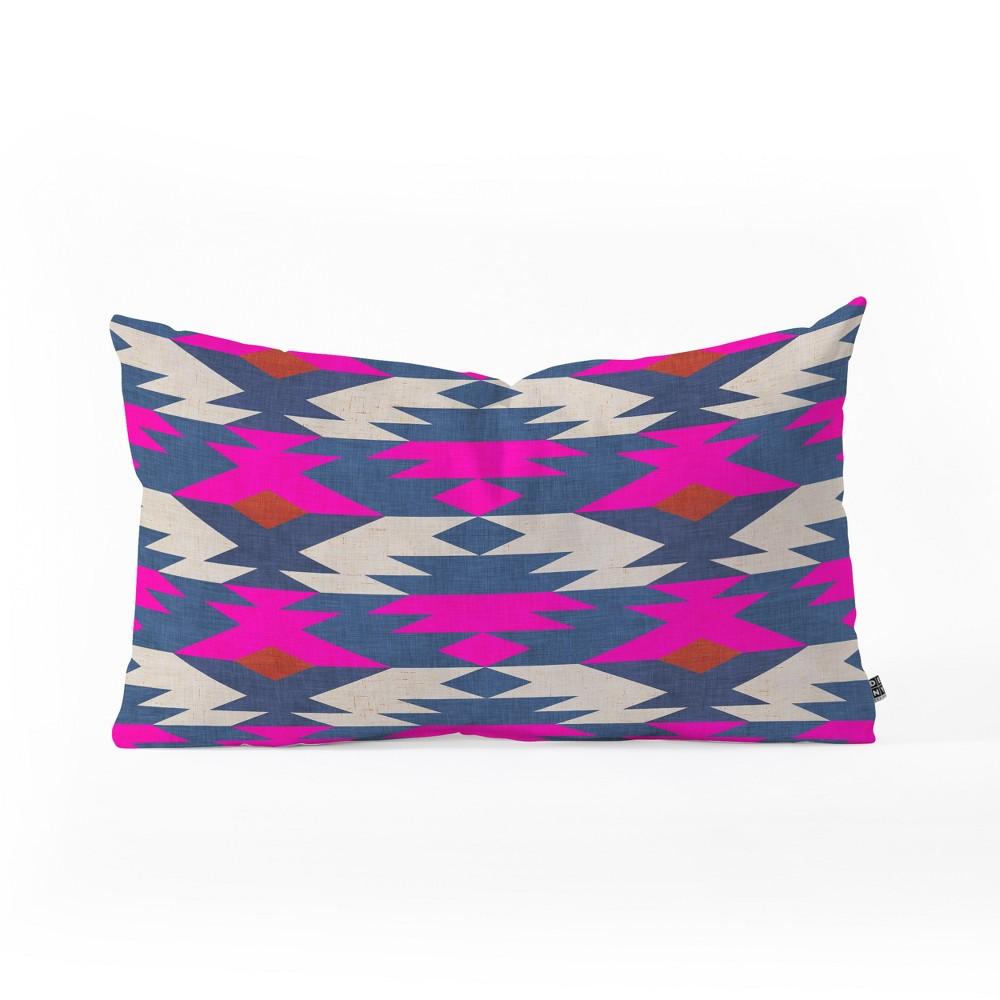 Holli Zollinger Diamond Kilim Lumbar Throw Pillow Blue - Deny Designs