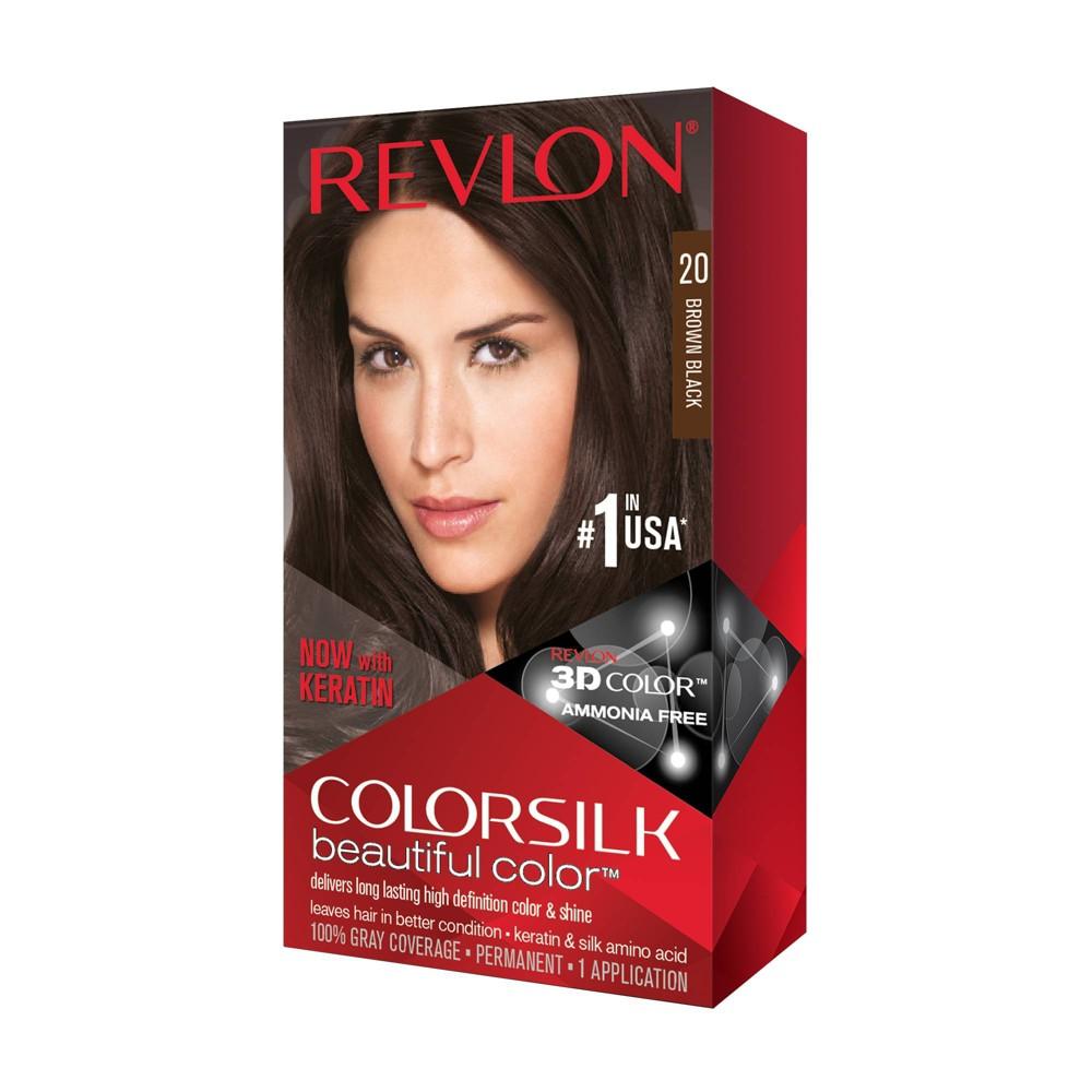 Image of Revlon Colorsilk Beautiful Permanent Hair Color - Brown/Black - 1 Kit