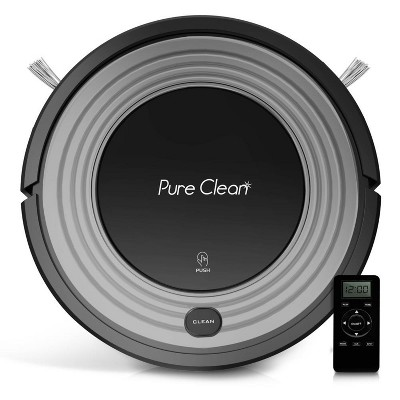 Pyle PUCRC96B PureClean Smart Automatic Programmable Robot Vacuum Home Cleaning System w/ 24W Suction & Rotating Brushes for All Indoor Floor Surfaces