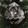 Laved Italian Ornaments Black Ball Silver Top Star Christmas  -  Tree Ornaments - image 3 of 3