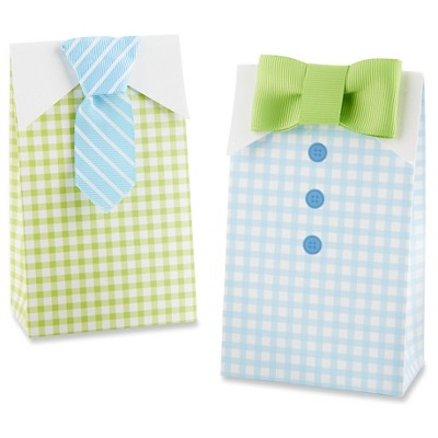24ct 'Little Man' Tie and Bow Tie Candy Baby Shower Gift Bags
