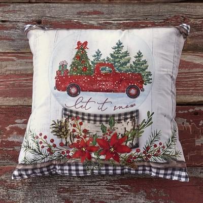 Christmas Pillow Decor Vintage Truck Pillow Home Decor for the Holidays,Christmas Gift Idea,P38