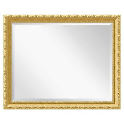 "32"" x 26"" Versailles Gold Framed Wall Mirror - Amanti Art"