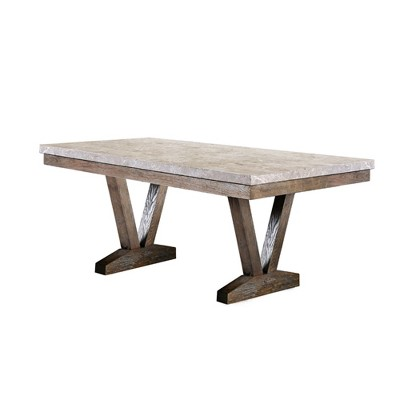 Silva Marble Top Dining Table Natural - HOMES: Inside + Out