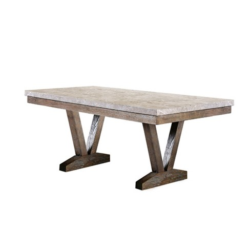 Silva Marble Top Dining Table Natural - Sun & Pine