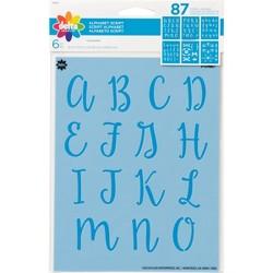 Delta 6ct Alphabet Script Stencils