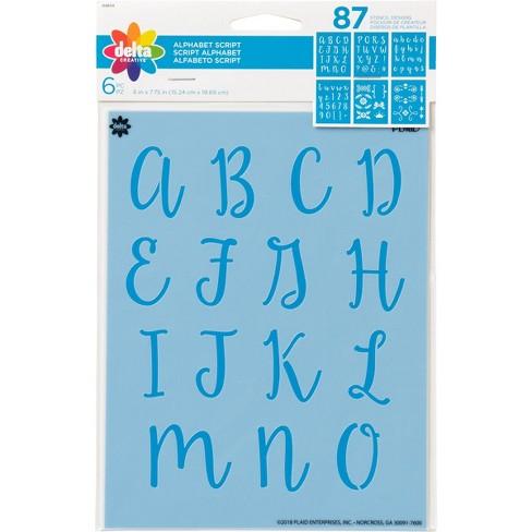 Delta 6ct Alphabet Script Stencils - image 1 of 3