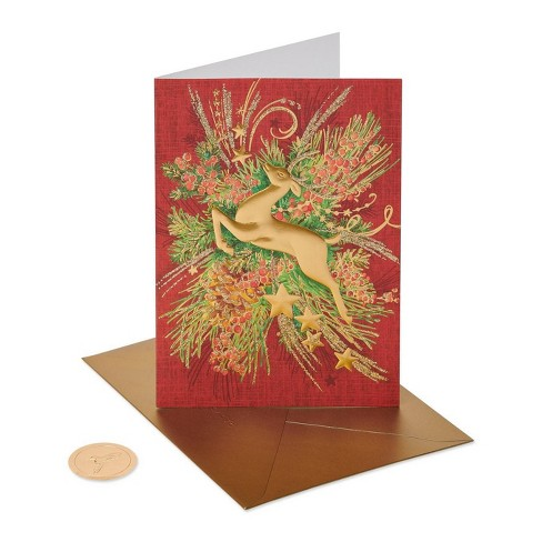 Papyrus Christmas Cards.12ct Papyrus Christmas Silver Reindeer Boxed Holiday Greeting Cards