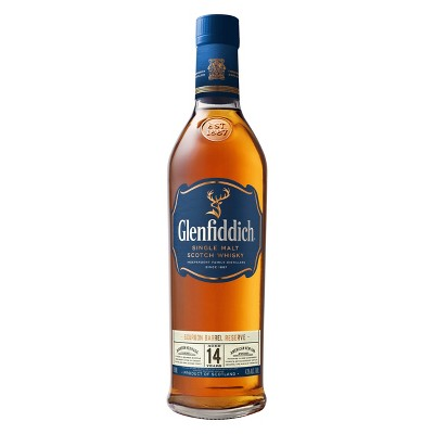 Glenfiddich 14yr Bourbon Barrel Reserve Scotch Whisky -750ml Bottle