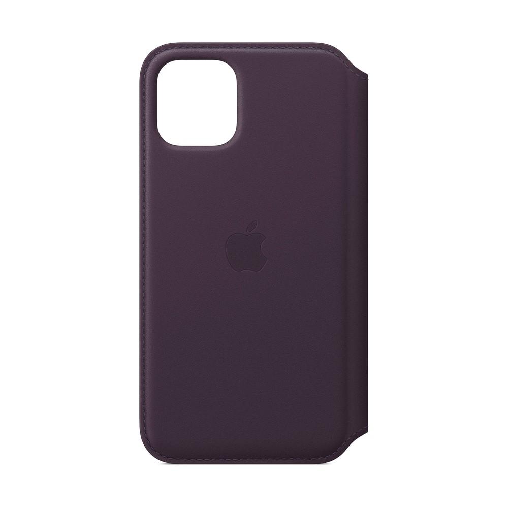 Apple iPhone 11 Pro Leather Folio - Aubergine