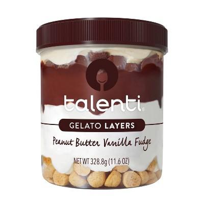 Talenti Gelato Layers Peanut Butter Vanilla Fudge - 11.6oz
