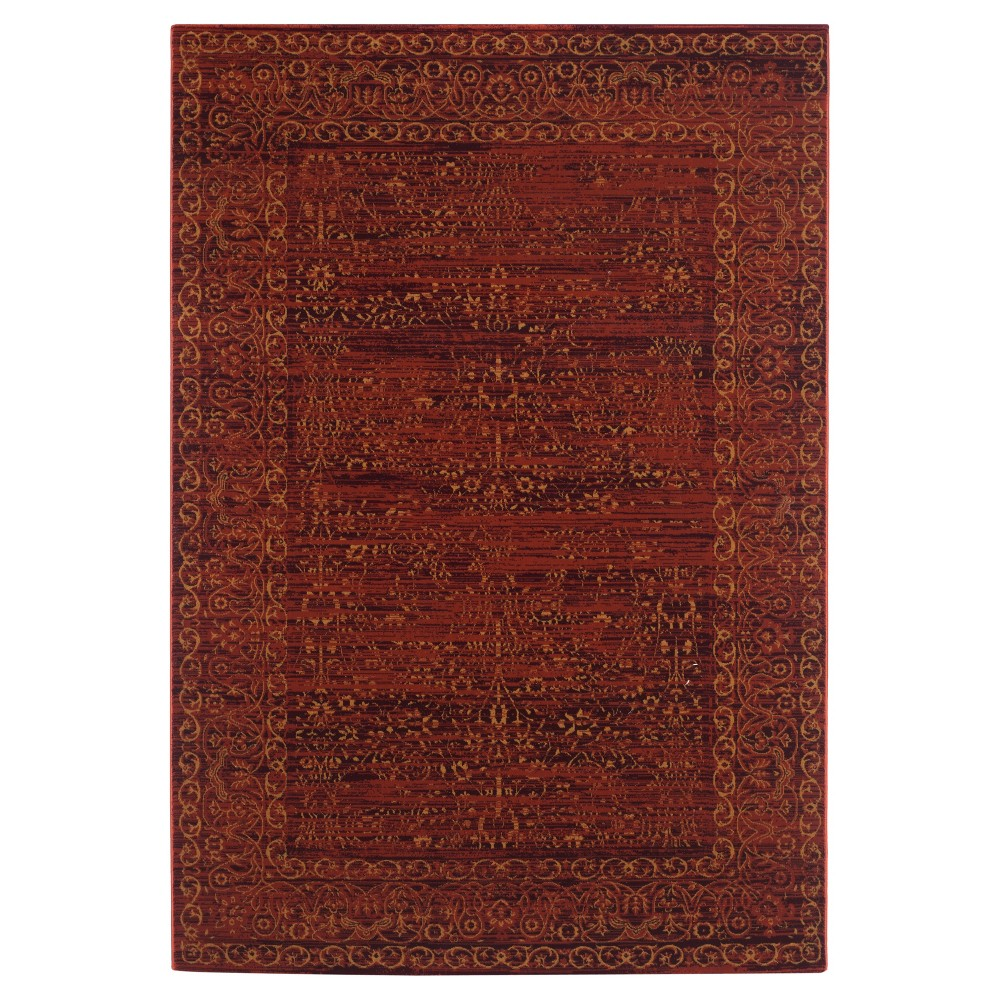 Wilson Area Rug - Ruby (Red) / Gold (8'6 X 12') - Safavieh
