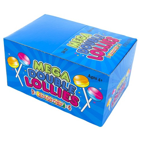 Smarties Mega Double Lollies Lollipops - 24ct