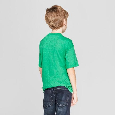 67fe09eb Boys' Star Wars Chewie Irish I Was A Jedi St. Patrick's Day Short Sleeve T- Shirt - Green