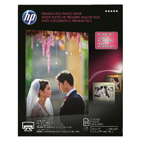 HP Premium Plus Photo Glossy Printer Paper - White (CR670A) - image 1 of 1