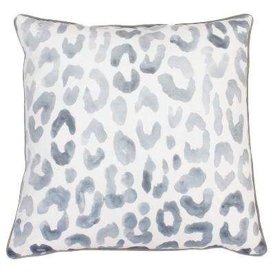 Miron Cheeta Print Oversize Square Throw Pillow Gray - Decor Therapy