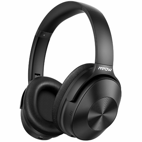 Mpow H12 Over the Ear Headphones with Hyb Active Noise Cancellation Bluetooth 5.0 With HiFi Sound Deep Bass 30H Playtime - MPBH366AB - Black - image 1 of 4
