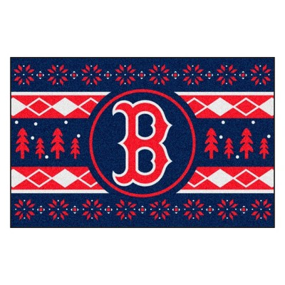 "MLB Boston Red Sox 19""x30"" Holiday Sweater Rug"