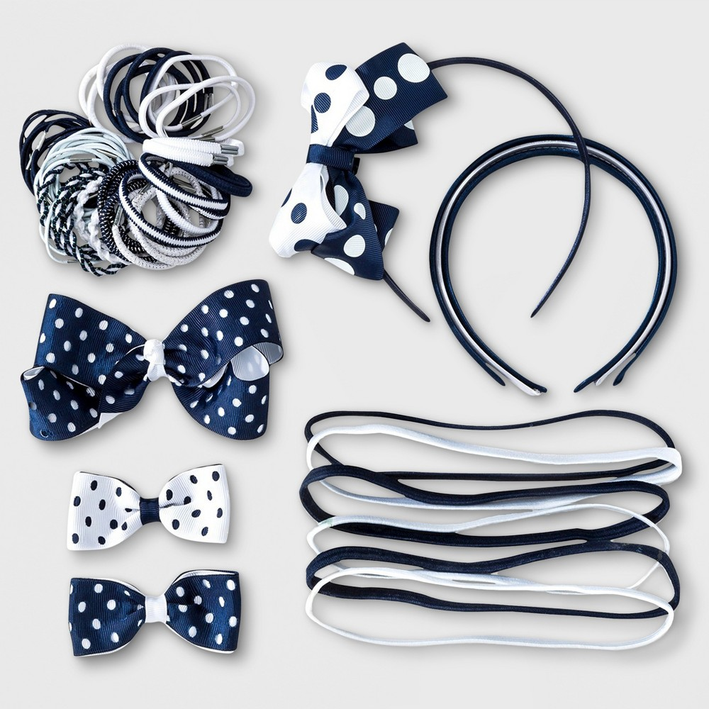 French Toast Girls' Hair Accessory Set, White