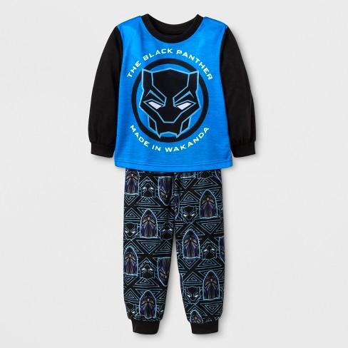 4181e16ddc Toddler Boys' Black Panther 2pc Poly Pajama Set - Black. Shop all Marvel