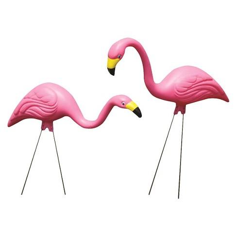 Steel Yard Statue Stake Pink Flamingo - Bloem - image 1 of 4