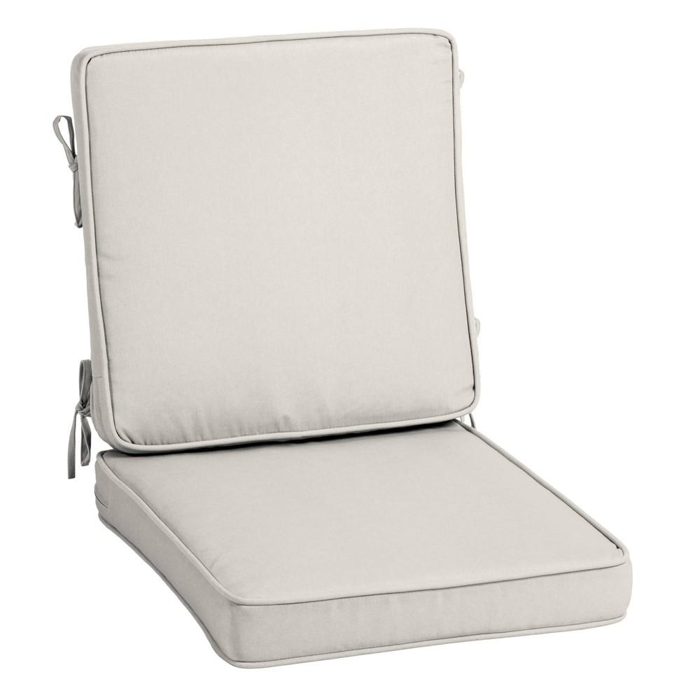 Profoam Acrylic Outdoor High Back Chair Cushion Sand Arden Selections