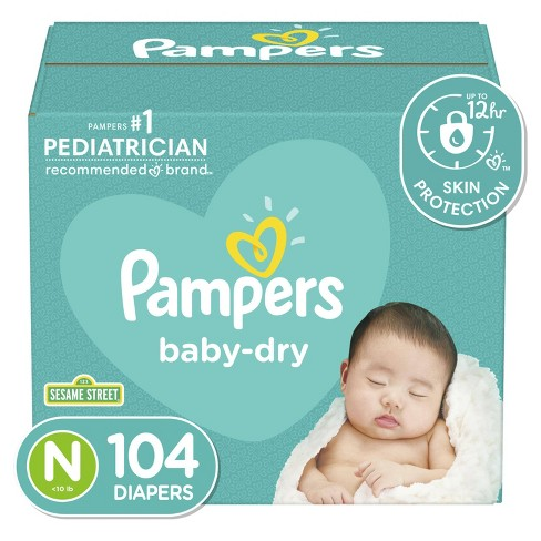 Pampers Baby Dry Diapers - (Select Size and Count) - image 1 of 4