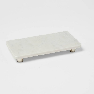 """12"""" x 6"""" Marble Serving Stand White - Threshold™"""