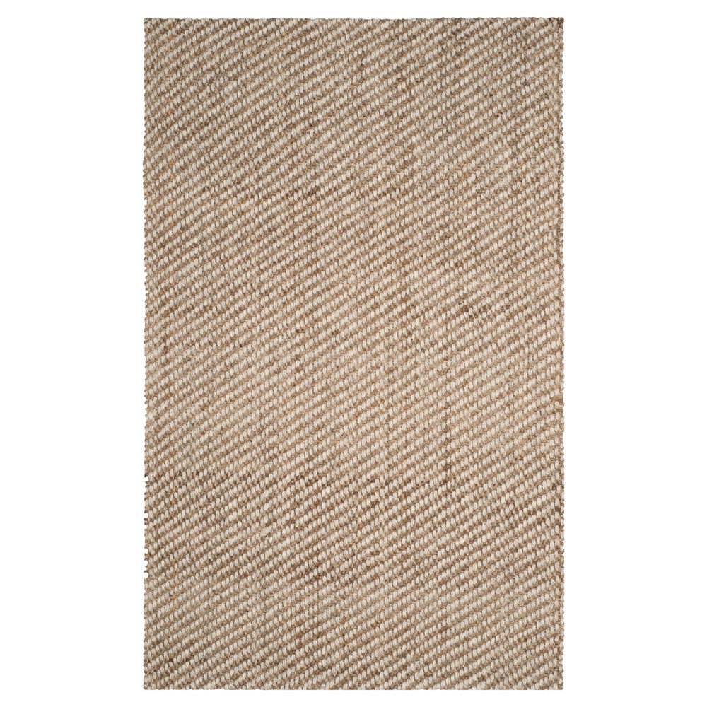 Natural Solid Loomed Area Rug - (4'X6') - Safavieh
