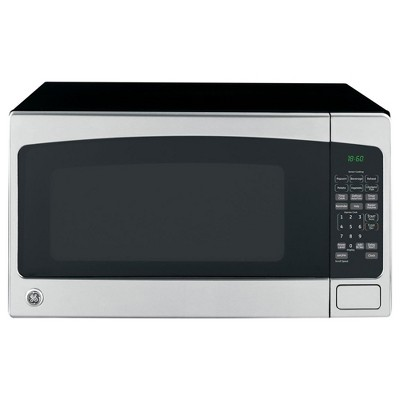 GE 2.0 Cubic Foot Countertop Microwave Oven, Silver (Certified Refurbished)
