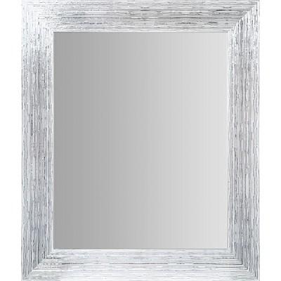 "16""x20"" Textured Wall or Leaner Mirror Gray- Gallery Solutions"