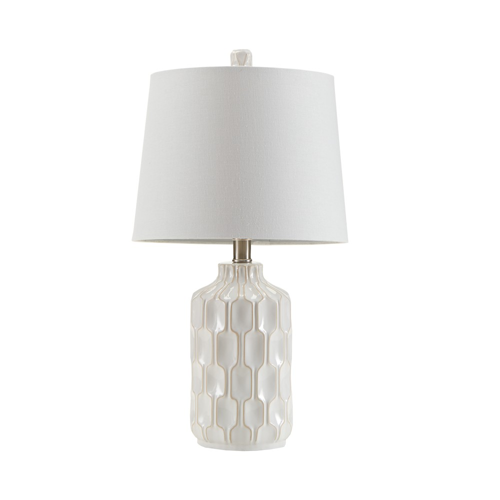 "Image of ""11.5"""" x 22"""" Contour Table Lamp (Includes Energy Efficient Light Bulb) Ivory"""