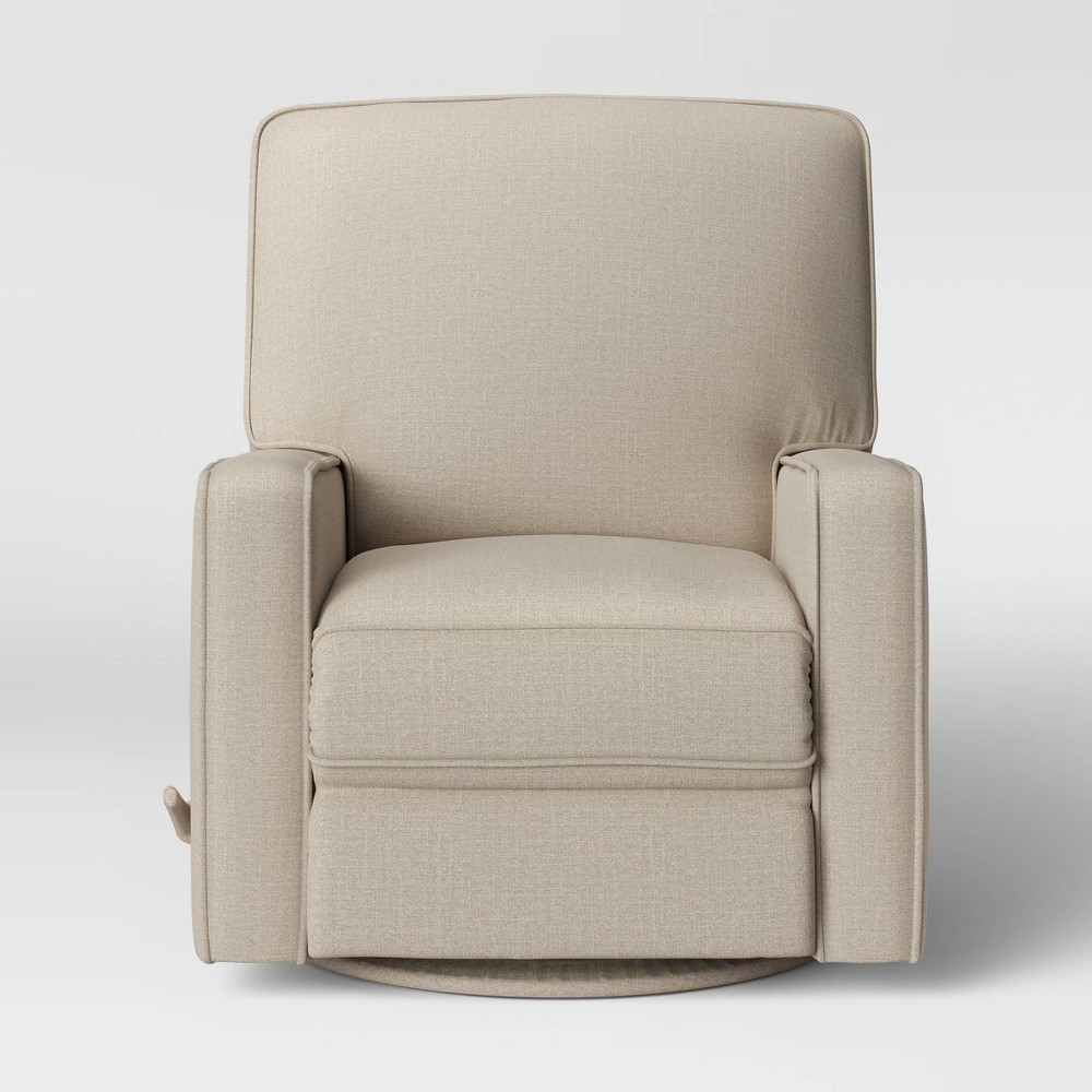 Bluehill Square Arm Swivel Glider Recliner White - Threshold