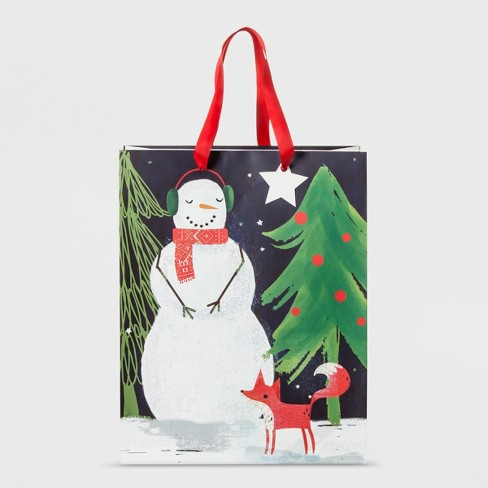 Snowman Scene Gift Bag Large - Wondershop™ - image 1 of 1