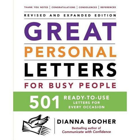 Great Personal Letters for Busy People: 501 Ready-To-Use Letters for Every Occasion - 2 Edition - image 1 of 1