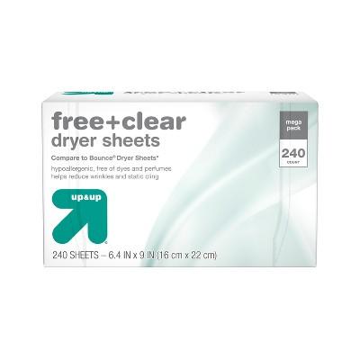 Free & Clear Fabric Softener Dryer Sheets   240ct    Up&Up™ by Up&Up