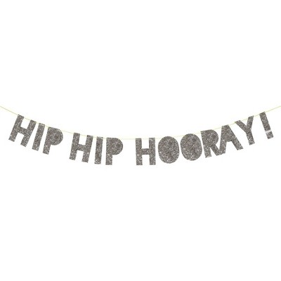 Meri Meri Hip Hip Hooray Banner – Party Decorations and Accessories – 14'