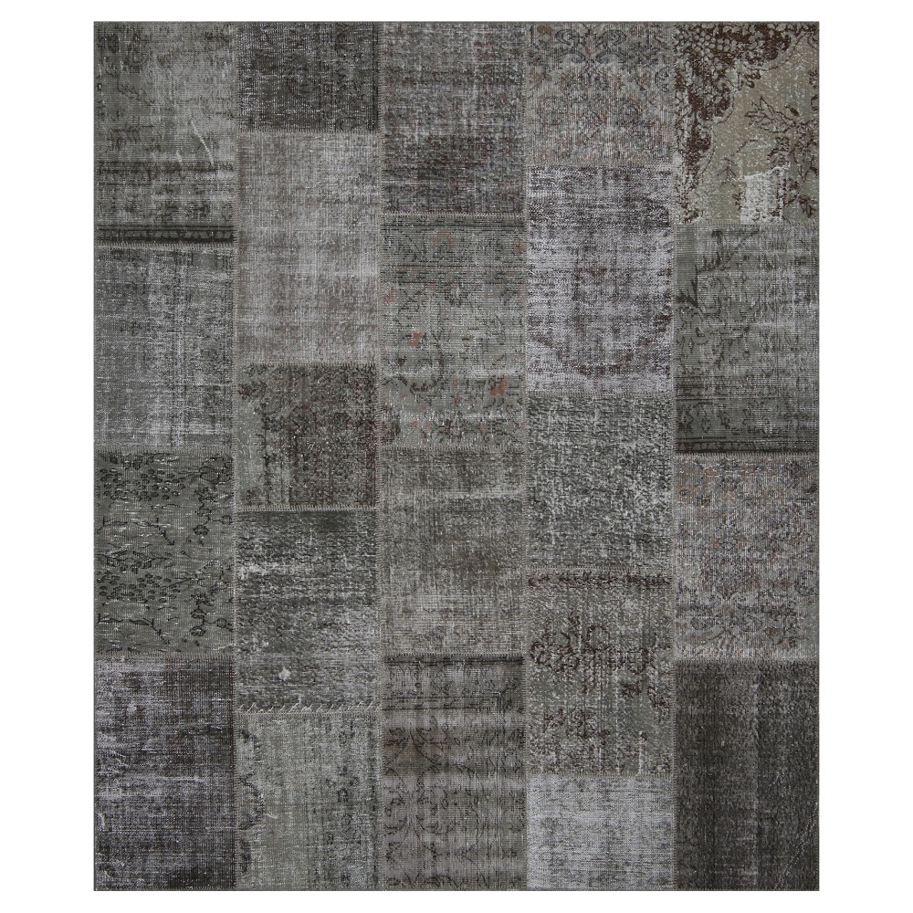 "Image of ""Antique Patchwork Area Rug Stone 8'2""""x9'10"""""""