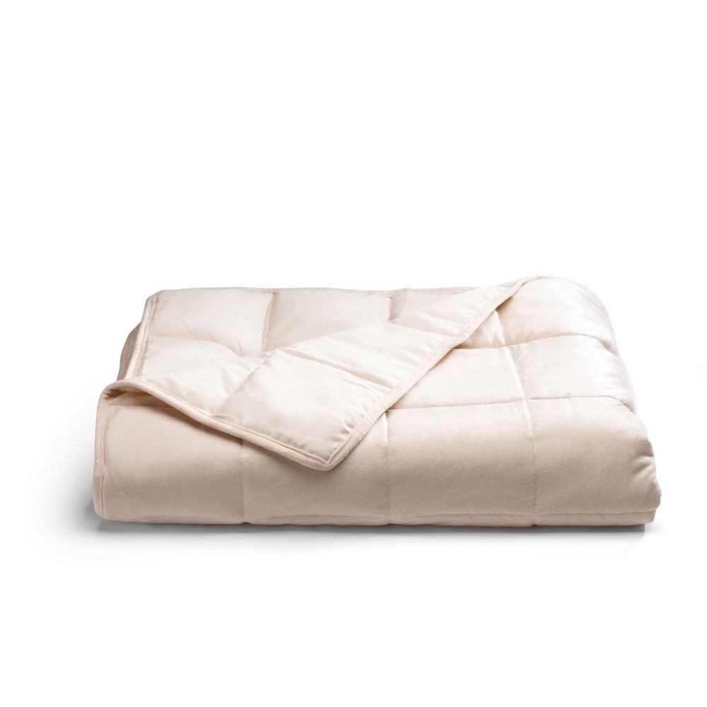 Image of 12lbs Weighted Throw Blanket Ivory - Tranquility