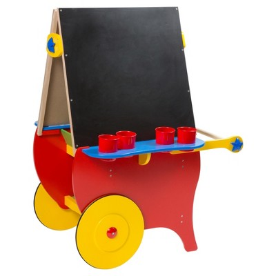Alex Toys Double Sided Rolling Easel and Art Storage Center