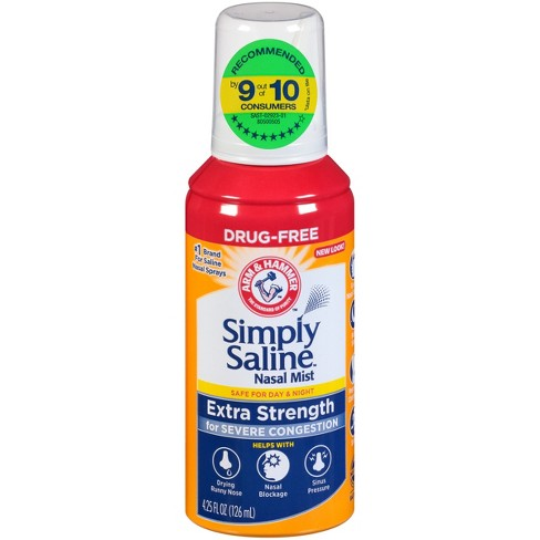Simply Saline Extra Strength for Severe Congestion Relief Nasal Mist -4.25 fl oz - image 1 of 3