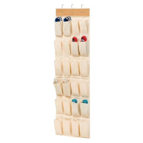 Honey-Can-Do 24 Pocket Over the Door Bamboo Organizer - image 1 of 4