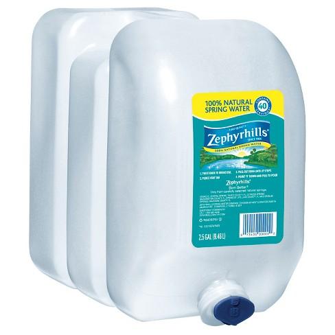 Zephyrhills Brand 100 Natural Spring Water 25 Gal Jug Target