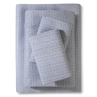 Jersey Sheet Set Prints (Queen)Gray - Room Essentials™