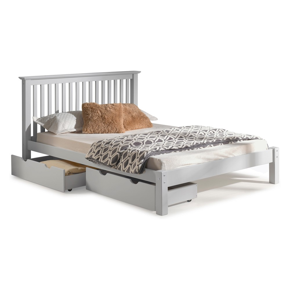 Image of Barcelona Queen Bed With Storage Drawers Dove Gray - Bolton Furniture