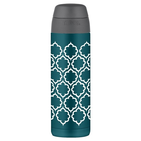 Thermos 18oz Vacuum Insulated Stainless Steel Hydration Water Bottle with Straw - Blue Lattice - image 1 of 1