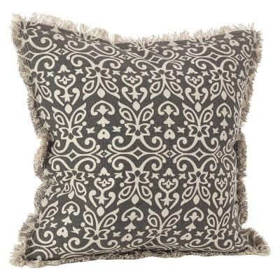 Black Naxos Design Throw Pillow (20 )- Saro Lifestyle®