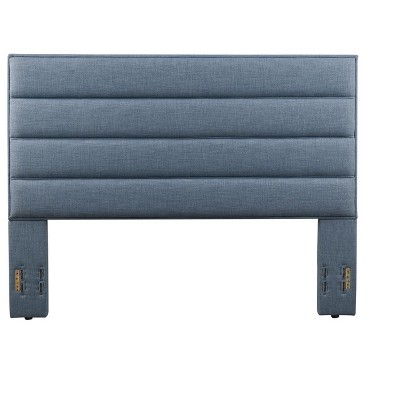 Glenwillow Home Dowling Upholstered Headboard in Blue, Full/Queen Size